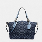 25891 small kelsey satchel in signature denim